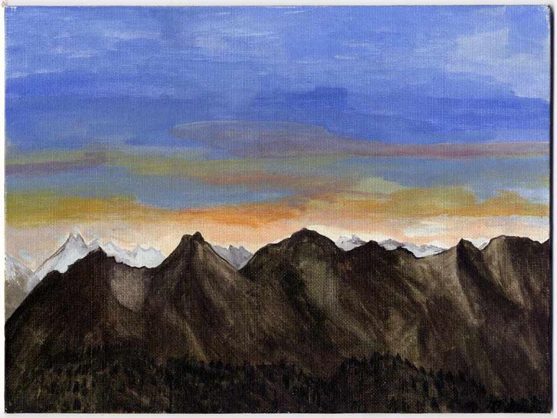 Painting of Maddelene mountain